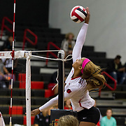 27 October 2016: The San Diego State Aztecs women's volleyball team took on Air Force and won 3-1. www.sdsuaztecphotos.com