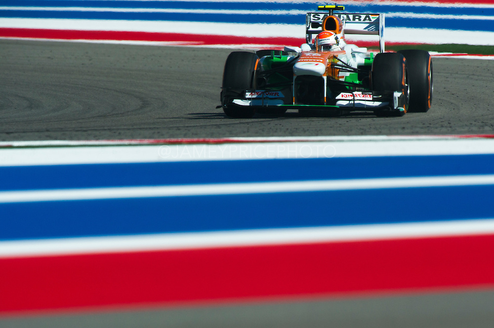 November 15- 17, 2013. Austin, Texas. United States Grand Prix 2013: Adrian Sutil, Sahara Force India F1 Team
