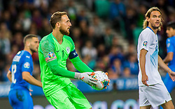 Jan Oblak of Slovenia during the 2020 UEFA European Championships group G qualifying match between Slovenia and Israel at SRC Stozice on September 9, 2019 in Ljubljana, Slovenia. Photo by Ziga Zupan / Sportida
