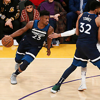 25 December 2017: Minnesota Timberwolves guard Jimmy Butler (23) drives during the Minnesota Timberwolves 121-104 victory over the LA Lakers, at the Staples Center, Los Angeles, California, USA.