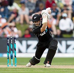 New Zealand's Kane Williamson batting against Pakistan in the third one day cricket international at the University of Otago Oval, Dunedin, New Zealand, Saturday, January 13, 2018. Credit:SNPA / Adam Binns ** NO ARCHIVING**