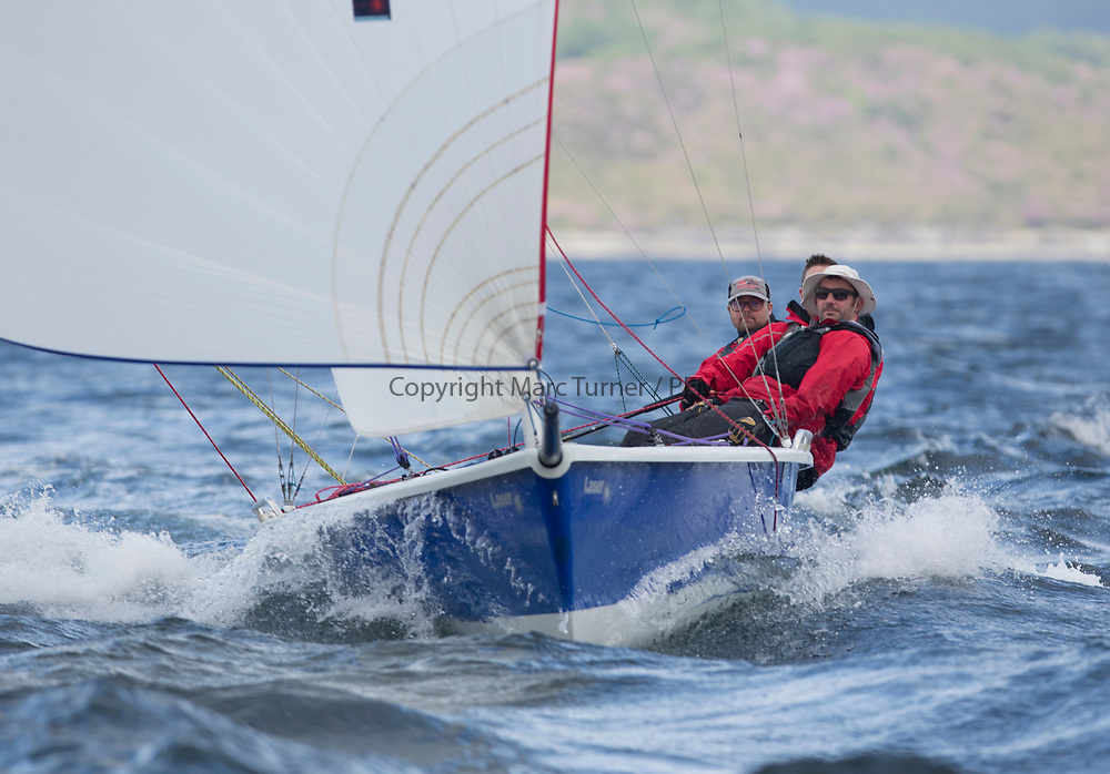 Silvers Marine Scottish Series 2017<br /> Tarbert Loch Fyne - Sailing Day 3<br /> <br /> GBR3089, Blue Jay, John Reekie, Bassenthwaite SC, SB20