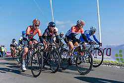 Lucinda Brand and Lisa Brennauer lead the next group on the road - Ronde van Drenthe 2016, a 138km road race starting and finishing in Hoogeveen, on March 12, 2016 in Drenthe, Netherlands.