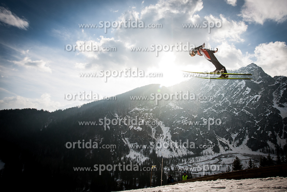 Ski jumper during Large Hill Individual Event at 3nd day of FIS Ski Jumping World Cup Finals Planica 2014, on March 22, 2014 in Planica, Slovenia. Photo by Grega Valancic / Sportida