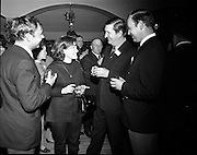 20/04/1970<br /> 04/20/1970<br /> 20 April 1970<br /> Tynagh Mines Dinner Dance at Loughrea, Co. Galway. (l-r): Captain Alexander, S.S. Heddernheim; Mrs F.W. Sheridan; Dave Fitzgerald, Mine Manager Tynagh and Mr. F.W. Sheridan, Dock Superintendent Galway.