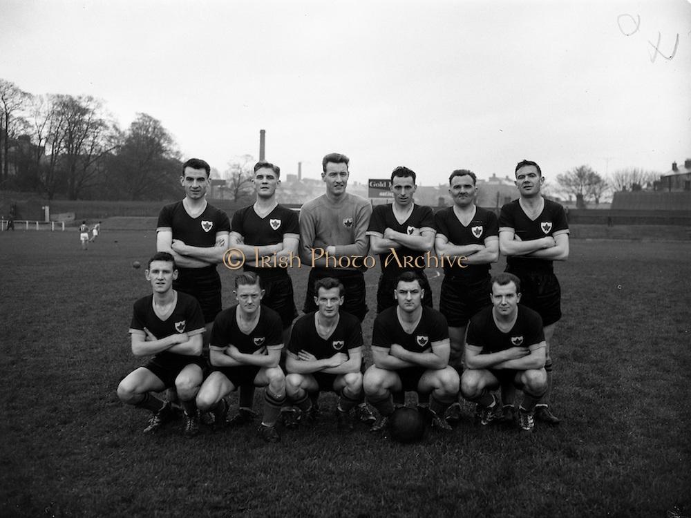 05/11/1960<br /> 11/05/1960<br /> 05 November 1960<br /> Soccer, League of Ireland: Cork Celtic v St Patrick's Athletic at Richmond Park, Dublin. The Cork Celtic team.