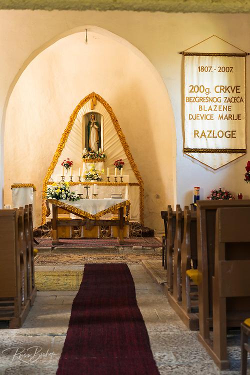 Small church in Razloge, Gorski Kotar, Croatia