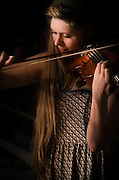 Corinna Smith on the violin during her performance with The Adam Ezra Group at The Bus Stop Music Cafe in Pitman, NJ.