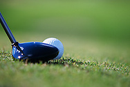 A fairway wood, ball at the address postion<br /> Photo Mark Newcombe