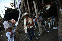 Bull heads are displayed outside of the ring at the annual Corralejas in Sincelejo, Colombia on Sunday, January 20, 2008. The corraleja, a bullfighting ritual in northern Colombia pitting hundreds of amateur matadors, many in advanced stages of inebriation, against a 900-pound bull. Regarded in other parts of Colombia as a bizarre spectacle, the corralejas are passionately defended by people of the northern savannas, an impoverished region. (Photo/Scott Dalton).