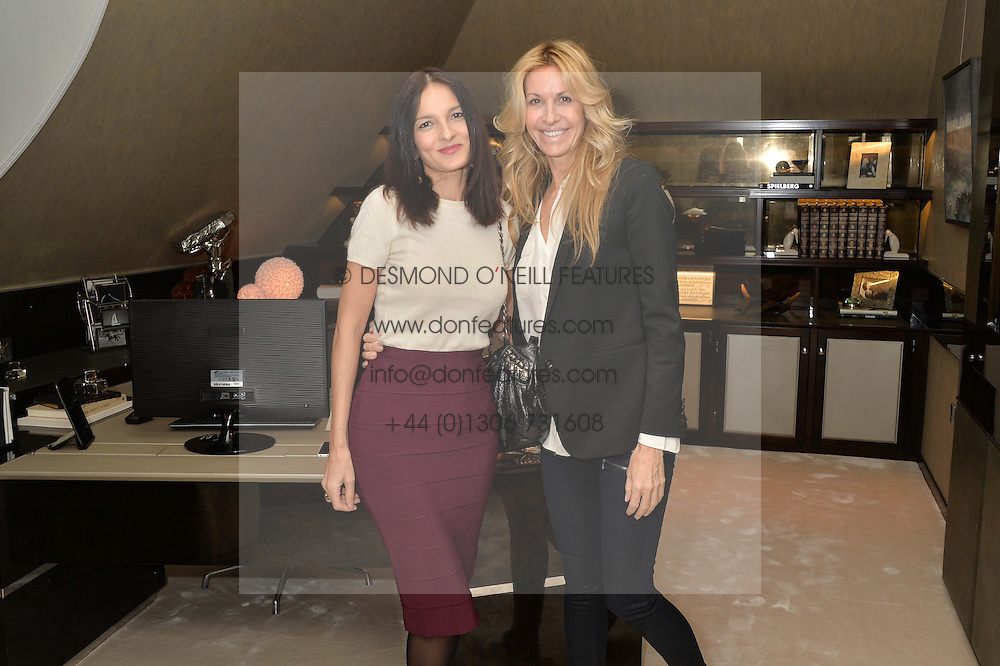 First look of the new Samsung Curved UHD TV at the Candy &amp; Candy penthouse at No. 1 Arlington Street, London - an exclusive Samsung BlueHouse event held on 27th February 2014.<br /> Picture shows:-Left to right, YASMIN MILLS and MELISSA ODABASH.