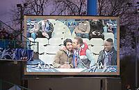 Illustration Love Cam  - 07.04.2015 -  Auxerre / Guingamp - 1/2Finale de Coupe de France<br />Photo : Dave Winter / Icon Sport