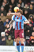 Darius Henderson of Scunthorpe United during the Sky Bet League 1 match between Scunthorpe United and Bradford City at Glanford Park, Scunthorpe, England on 21 November 2015. Photo by Ian Lyall.
