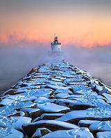 Sea Smoke billows around Spring Point Ledge Lighthouse in the sub-zero cold. Winter is my favorite time of year, and this is why. It's just so dramatic and beautiful here in Maine. This photo has gone on to win 1st place in the Maine Photography Show as well as grace the cover of Down East Magazine.