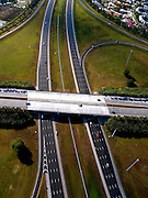 Aerial of Interstate I-75 near Weston, Fl