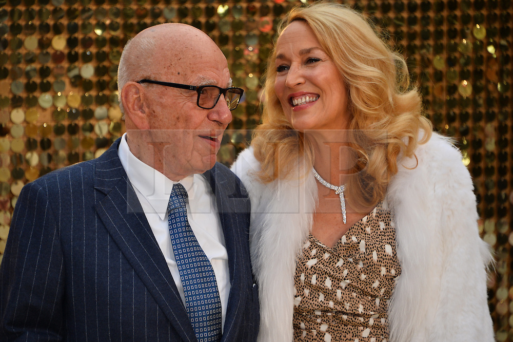 © Licensed to London News Pictures. 29/06/2016. Guests including RUPERT MURDOCH, JENNIFER SAUNDERS, JOANNA LUMLEY, JAMNE HORRICKS, NADIA SAWALHA, KATE MOSS, EMMA BUNTON, DAISY LOWE, CARA DELEVINGE, KYLIE MINOGUE, ALISHA DIXON, JERRY HALL, JOURDAN DUNN,  LILY COLE, SUKI WATERHOUSE and LARA STONE attend the ABSOLUTELY FABULOUS world film premiere.<br />