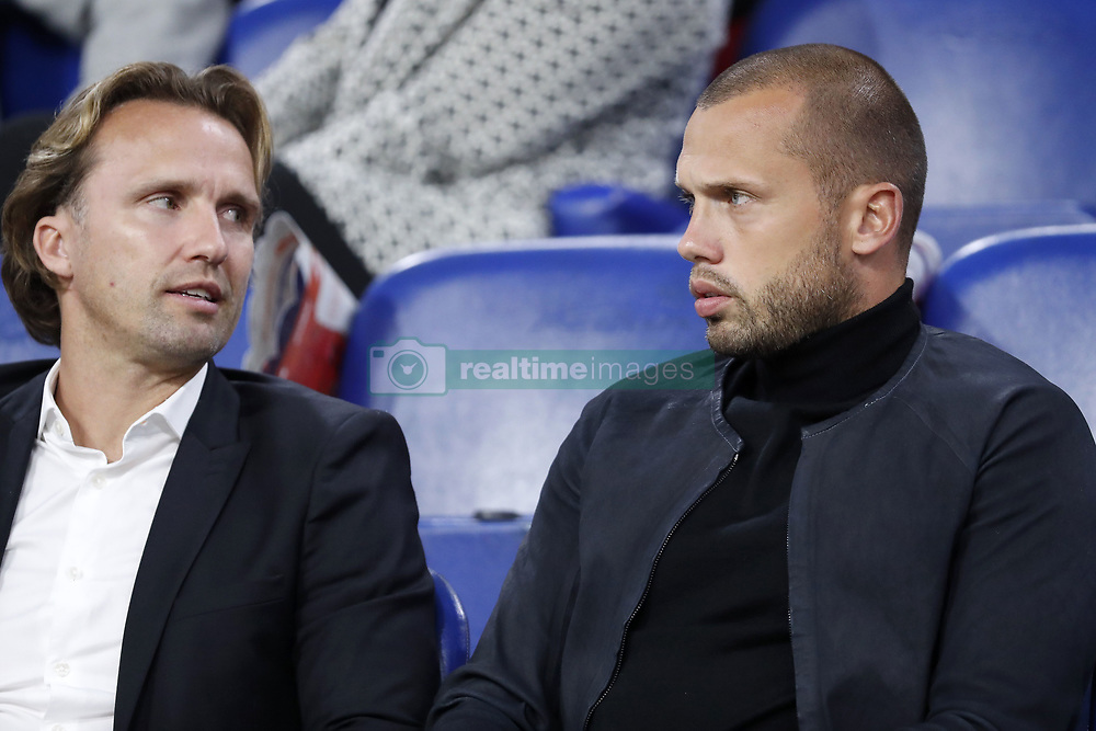 (L-R) Boudewijn Zenden, John Heitinga during the International friendly match match between The Netherlands and Peru at the Johan Cruijff Arena on September 06, 2018 in Amsterdam, The Netherlands
