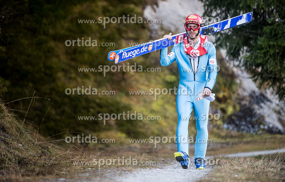 19.12.2014, Nordische Arena, Ramsau, AUT, FIS Nordische Kombination Weltcup, Skisprung, Training, im Bild <br /> Christoph Bieler (AUT) // during Ski Jumping of FIS Nordic Combined World Cup, at the Nordic Arena in Ramsau, Austria on 2014/12/19. EXPA Pictures &copy; 2014, EXPA/ JFK