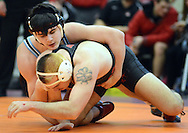 Council Rock South's Joe Doyle (top) is in control of Boyertown's Brody O'Connell during the 195 pound match Saturday February 6, 2016 at the Upper Dublin High School in Fort Washington, Pennsylvania. Joe Doyle won by technical fall. (Photo by William Thomas Cain)