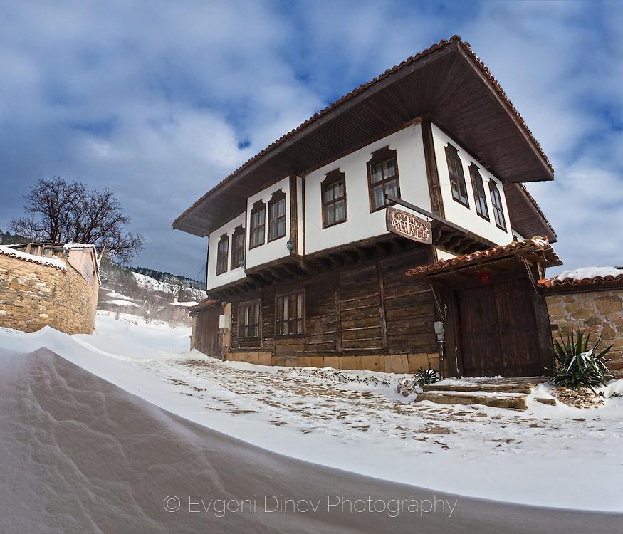Village of Zheravna at winter