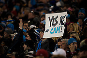 January 24, 2016: Carolina Panthers vs Arizona Cardinals. Carolina Panthers fans