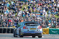 #1 Ashley Sutton Adrian Flux BMR Subaru Racing Subaru Levorg GT during BTCC Race 1 Podium of the 2018 British Touring Car Championship at Croft, Dalton On Tees, North Yorkshire, United Kingdom. June 24 2018. World Copyright Peter Taylor/PSP.