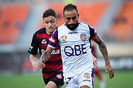 SYDNEY, NSW - FEBRUARY 24: Perth Glory forward Diego Castro (17) takes the ball downfield at round 20 of the Hyundai A-League Soccer between Western Sydney Wanderers FC and Perth Glory on February 24, 2019 at Spotless Stadium, NSW. (Photo by Speed Media/Icon Sportswire)