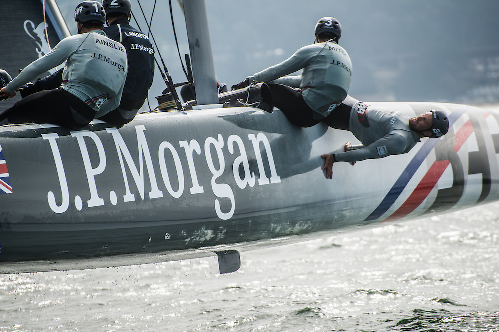 Team J.P. Morgan BAR racing in San Francisco, CA