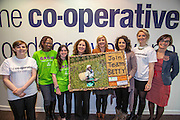 Members and supporters of The Co-operative and Oxfam today (13 June) called on the UK Government to champion small-scale farmers and co-operatives at the forthcoming Rio+20 Summit, in light of the role they play in feeding nearly a third of humanity. Campaigners from both organisations met Deputy Prime Minister Nick Clegg to represent 17,000 of their peers who took action to call on the UK Government to champion three key issues at Rio+20: fair and sustainable methods of increasing global food production; the crucial role of smallholder farmers and co-operatives; and increased investment in sustainable smallholder agriculture to lift farmers - many of whom are women - out of poverty. The campaigners presented Nick Clegg with a piece of art commissioned by the two organisations. The artwork bears the slogan 'Join Team Betty' and portrays its namesake, a tea farmer who was one of 11,000 smallholders supported by The Co-operative to form into co-operatives, improve access to markets, achieve Fairtrade certification and diversify into other produce to help improve local food security