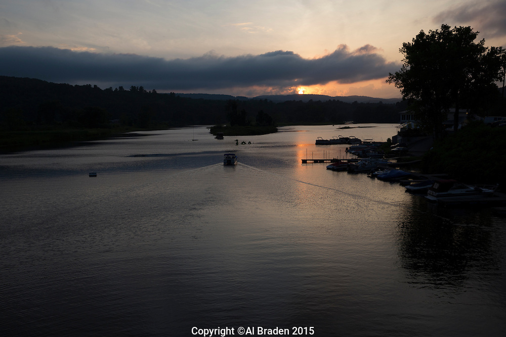 Sunset, West River, Brattleboro, Vermont