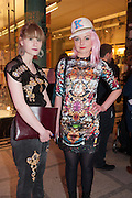 JASMINE MEADEN; JOANNA HIR, Ballgowns: British Glamour Since 1950, Sponsored by Coutts. V and A Museum. South Kensington. London.  15 May 2012.