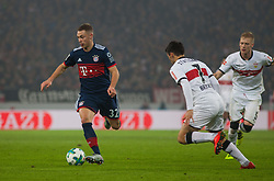 December 16, 2017 - Stuttgart, Germany - Bayerns Joshua Kimmich initiates a counter during the German first division Bundesliga football match between VfB Stuttgart and Bayern Munich on December 16, 2017 in Stuttgart, Germany. (Credit Image: © Bartek Langer/NurPhoto via ZUMA Press)