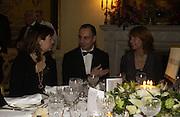 Alex Shulman and Dr. Luigi Maramotti . Dinner at the Italian Embassy in which the winner of the MaxMara Art Prize for Women is announced. Grosvenor Sq. London . 2 February  2006. © Copyright Photograph by Dafydd Jones 66 Stockwell Park Rd. London SW9 0DA Tel 020 7733 0108 www.dafjones.com