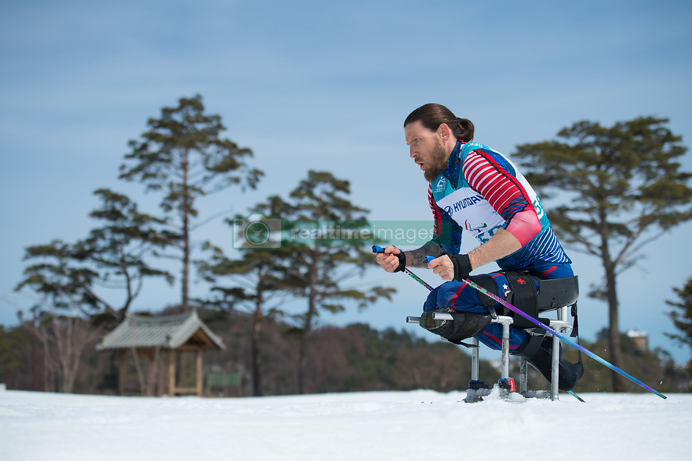 March 17, 2018 - Pyeongchang, South Korea - Jeremy Wagner of the US during the 7.5km Cross Country event Saturday, March 17, 2018 at the Alpensia Biathlon Center at the Pyeongchang Winter Paralympic Games. Photo by Mark Reis (Credit Image: © Mark Reis via ZUMA Wire)