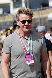 Formel 1: Grosser Preis der USA in Austin, Renntag / 231016<br /> <br /> ***Gordon Ramsey (GBR) Celebrity Chef on the grid.<br /> 23.10.2016. Formula 1 World Championship, Rd 18, United States Grand Prix, Austin, Texas, USA, Race Day.<br /> ***