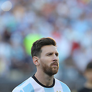 FOXBOROUGH, MASSACHUSETTS - JUNE 18: Lionel Messi #10 of Argentina during team presentations before   the Argentina Vs Venezuela Quarterfinal match of the Copa America Centenario USA 2016 Tournament at Gillette Stadium on June 18, 2016 in Foxborough, Massachusetts. (Photo by Tim Clayton/Corbis via Getty Images)
