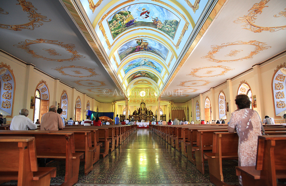 Interior of Alajuela Cathedral. Alajuela, Costa Rica.<br />