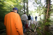 Hikers in Michigans' Upper Peninsula.