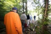 Hikers in Michigans' Upper Peninsula.