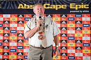 VILLIERSDORP, SOUTH AFRICA - The Mayor of Theewaterskloof,  Chris Punt, welcomes the ABSA Cape Epic during stage one of the Absa Cape Epic Mountain Bike Stage Race held between Gordon's Bay and Villiersdorp on the 22 March 2009 in the Western Cape, South Africa..Photo by Nick Muzik  /SPORTZPICS