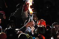 """n/z.: Olimpiady Specjalne Igrzyska Zimowe podczas ceremonii otwarcia w hali """" T Wave """" w Nagano. Japonia , Nagano , 26-02-2005 , fot.: Adam Nurkiewicz / mediasport..Special Olympics Winter Games during opening ceremony at """" T Wave Hall """" in Nagano. February 26, 2005 , Japan , Nagano ( Photo by Adam Nurkiewicz / mediasport )"""