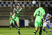 Forest Green Rovers William Davidson(5) clears the ball during the The FA Youth Cup match between Bristol Rovers and Forest Green Rovers at the Memorial Stadium, Bristol, England on 2 November 2017. Photo by Shane Healey.