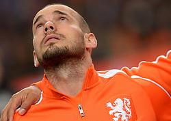 12-11-2014 NED: Oefenwedstrijd Nederland - Mexico, Amsterdam<br /> Nederland verliest met 3-2 van Mexico / Wesley Sneijder