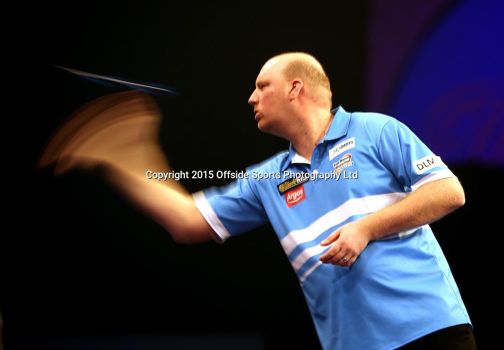 02 January 2015  PDC World Darts Championship London;  Vincent van der Voort.<br /> Photo: Mark Leech