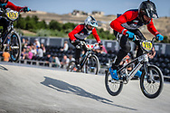 #219 during practice at the 2018 UCI BMX World Championships in Baku, Azerbaijan.
