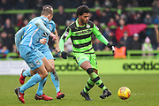 Forest Green Rovers Reuben Reid(26) passes the ball during the EFL Sky Bet League 2 match between Forest Green Rovers and Coventry City at the New Lawn, Forest Green, United Kingdom on 3 February 2018. Picture by Shane Healey.