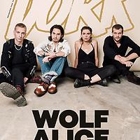 Wolf Alice photographed for Dork Magazine, September 2017