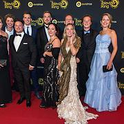 NLD/Amsterdam/20191009 - Uitreiking Gouden Televizier Ring Gala 2019, Jaap Vreeken, Boer Wim en Marit, Boer Marnix en partner Emmie, Boerin Michelle en Maarten, Boerin Steffi en Roel