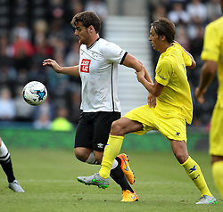 Derby County's Chris Martin - Mandatory by-line: Robbie Stephenson/JMP - 07966386802 - 29/07/2015 - SPORT - FOOTBALL - Derby,England - iPro Stadium - Derby County v Villarreal CF - Pre-Season Friendly