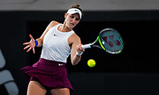 Marketa Vondrousova of the Czech Republic in action during her quarter-final match at the 2020 Adelaide International WTA Premier tennis tournament against Ashleigh Barty of Australia. Photo Rob Prange / Spain ProSportsImages / DPPI / ProSportsImages / DPPI